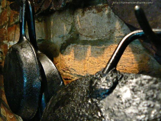 Little woks and iron skillets