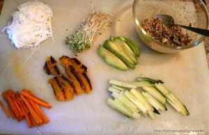 Rice paper wrap ingredients