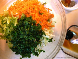 Slaw ingredients