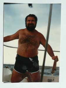 Sid the Sailor. On a boat, dad was at his best.