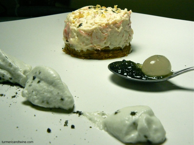 cheesecake with licorice cream 2