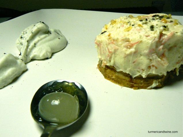 cheesecake with licorice cream 3