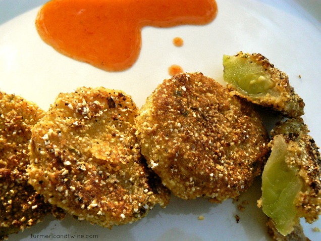 fried green tomatoes with hot sauce splash 2