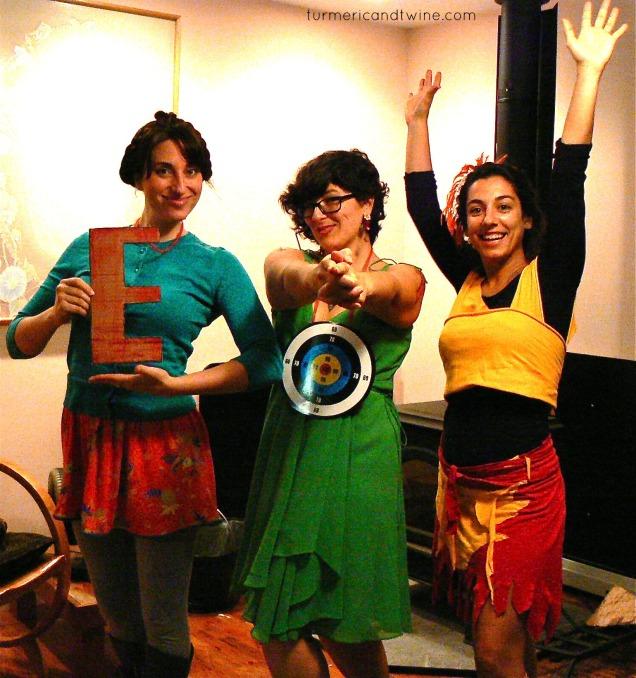 Our Trio costume: Ready, Aim, Fire!