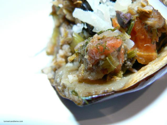 vegetarian stuffed eggplant bite 3