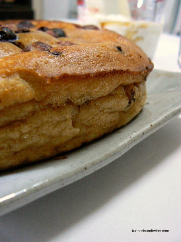 Lemon Ricotta Deep Dish Pancake with Cranberries and Chocolate 1