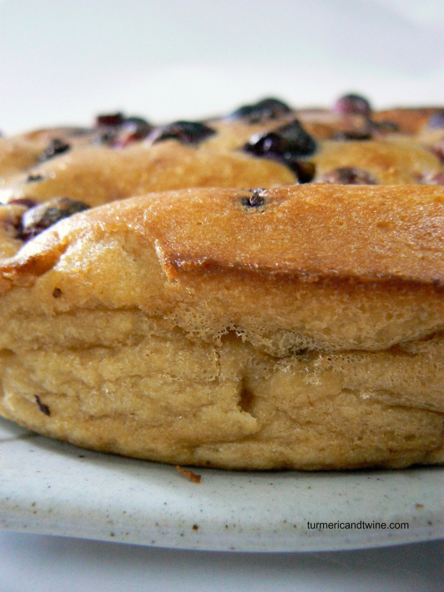 Lemon Ricotta Deep Dish Pancake with Cranberries and Chocolate 2