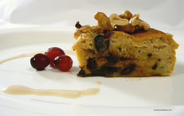 Lemon Ricotta Deep Dish Pancake with Cranberries and Chocolate slice 2