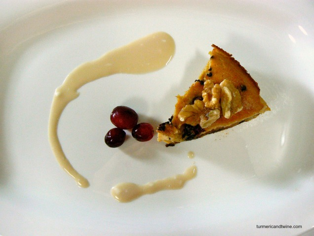 Lemon Ricotta Deep Dish Pancake with Cranberries and Chocolate slice
