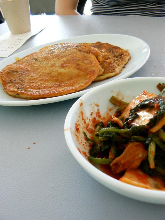 Pajeon and kimchi