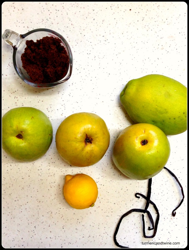 quince tarte ingredients