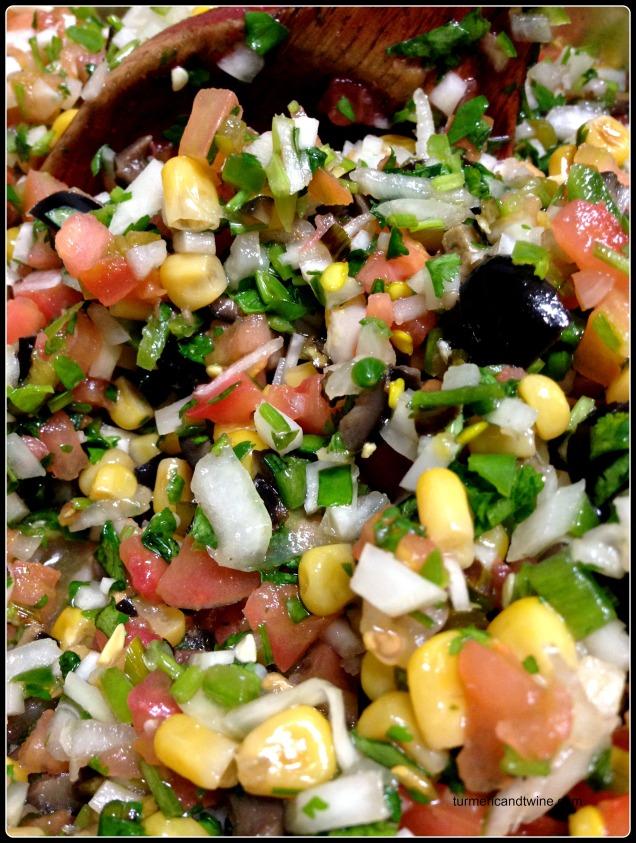 kohlrabi cilantro salsa mix