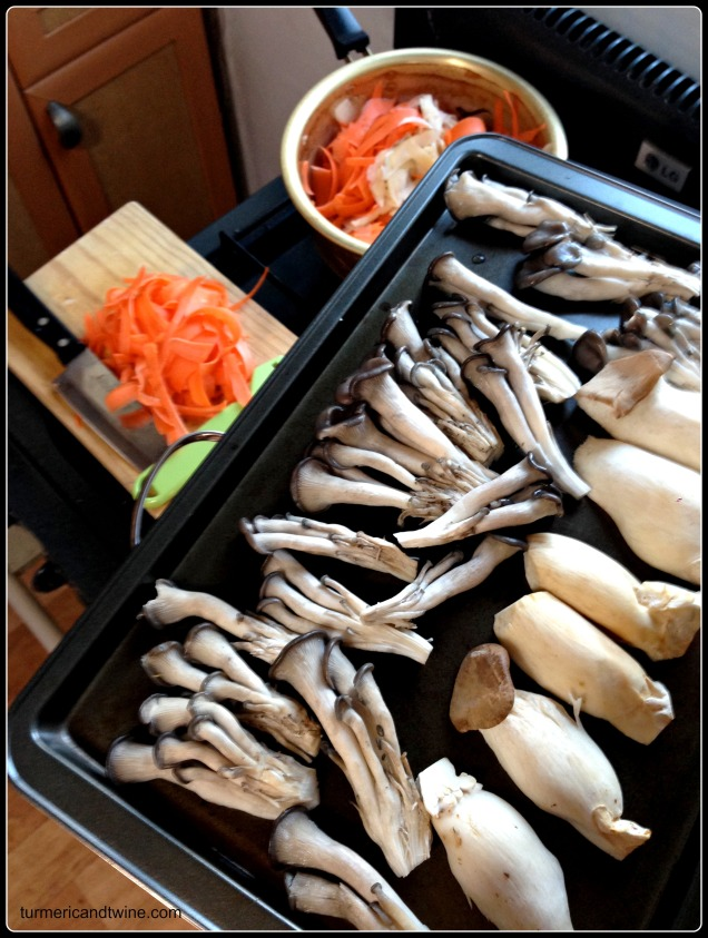 mushrooms and carrots Wwoof CSA