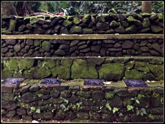 Sacred monkey forest wall Ubud