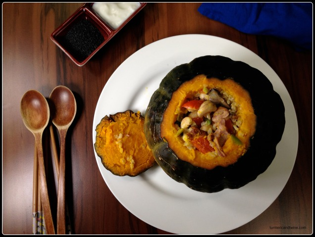 smoked duck stuffed pumpkin 2