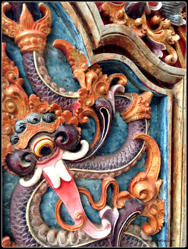 Balinese temple wood carving