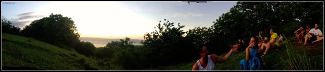Gili high point sunset panorama