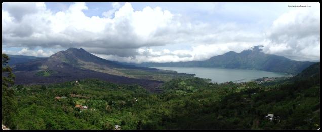 volcano Bali panorama