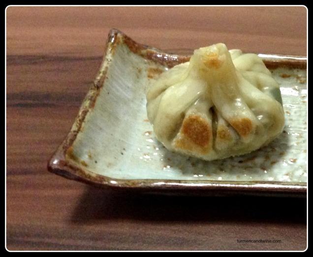 handmade mushroom dumplings detail