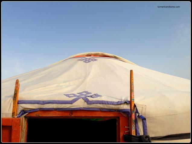 ger in the Gobi Desert, Mongolia