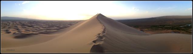 Gobi desert panorama