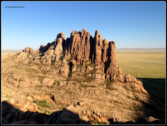rock formations on the steppe, Mongolia