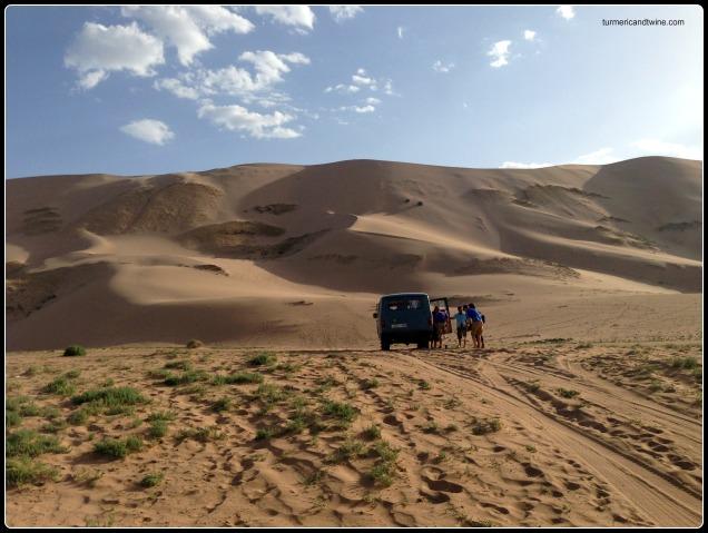 Russin van in Gobi Desert, Mongolia