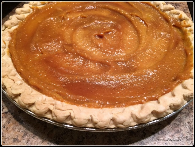 salted caramel pumpkin pie