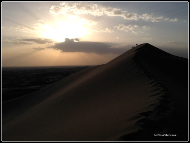 Sunset on the Singing Dunes, Gobi desert, Mongolia