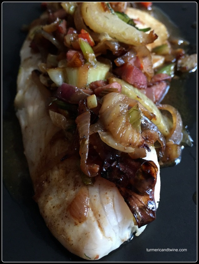 Pomegranate Molasses Tilapia Tacos with Fennel Kielbasa Salsa 2
