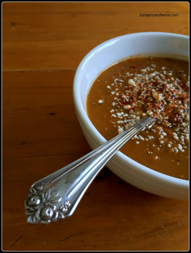 slow cooker butternut squash potage with chili and cocoa powder 2