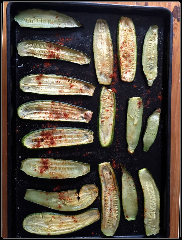 roasted zucchini with paprika