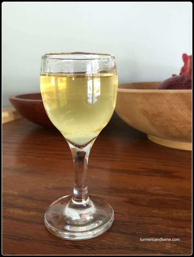 Homemade Limoncello shot 1