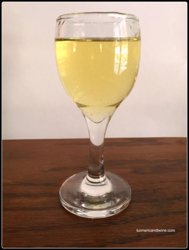 Homemade Limoncello shot
